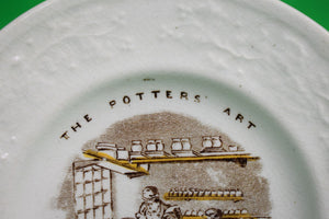 The Potters' Art Cup Making English China Plate