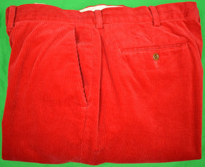 "Polo Ralph Lauren Red Corduroy Trousers Sz 38""W x 32""L"