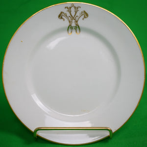 C. Ahrenfeldt Limoges French China Plate w/ Armorial Monogram 'W'