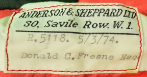 Anderson & Sheppard 30, Savile Row c1974 Millbrook Hunt Tailcoat Sz 38R