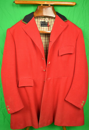 Bernard Weatherill Millbrook Hunt Coat c1974 w/ Tattersall Lining Sz 40R