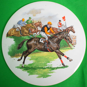 Set of 2 English Steeplechase Trivet Tile Plates