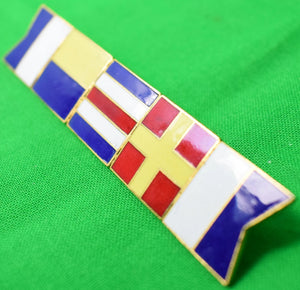 5 Horizontal Enamel Lacquer Signal Flags