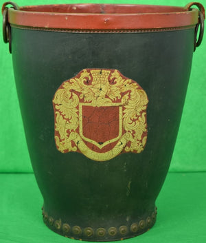 'Peal & Co for Brooks Brothers English Leather Bucket w/ Armorial Crest'