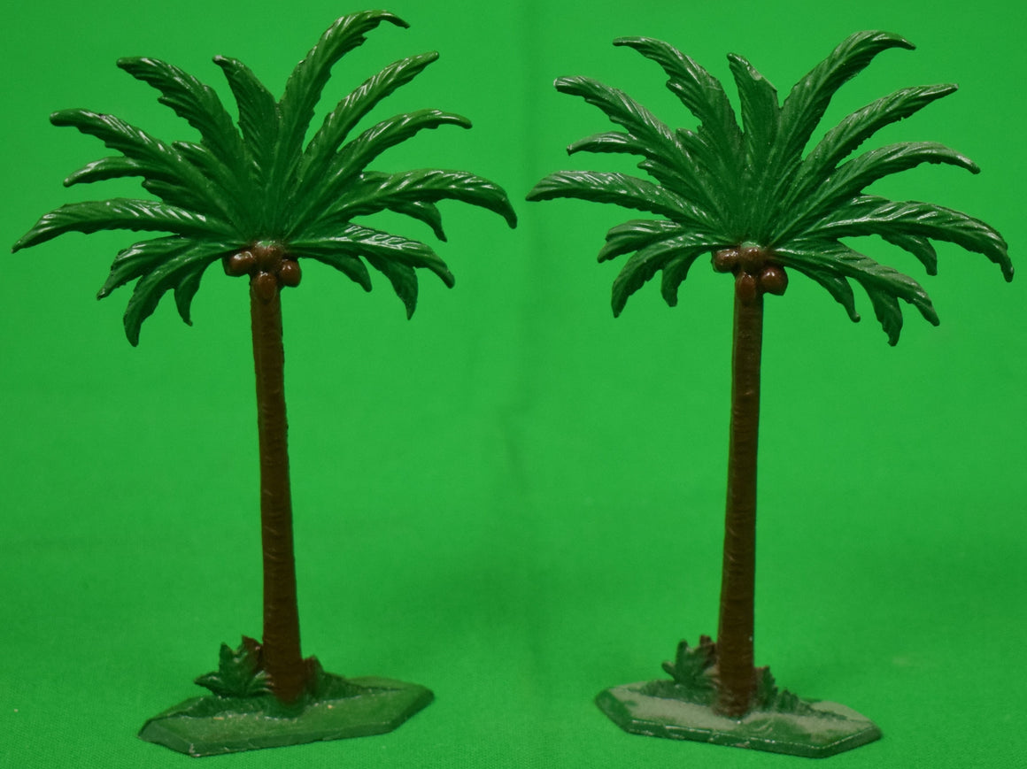 Set of 2 Lead Palm Trees