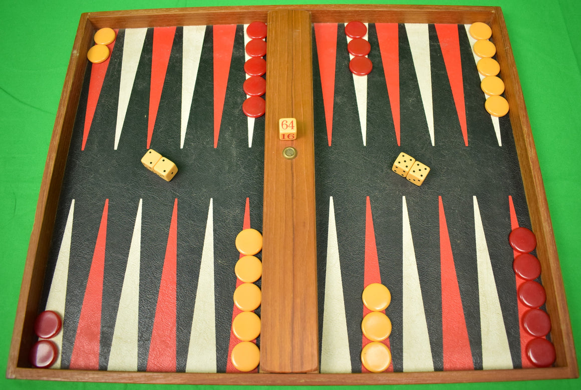 Brooks Brothers c1950s Backgammon Board Set