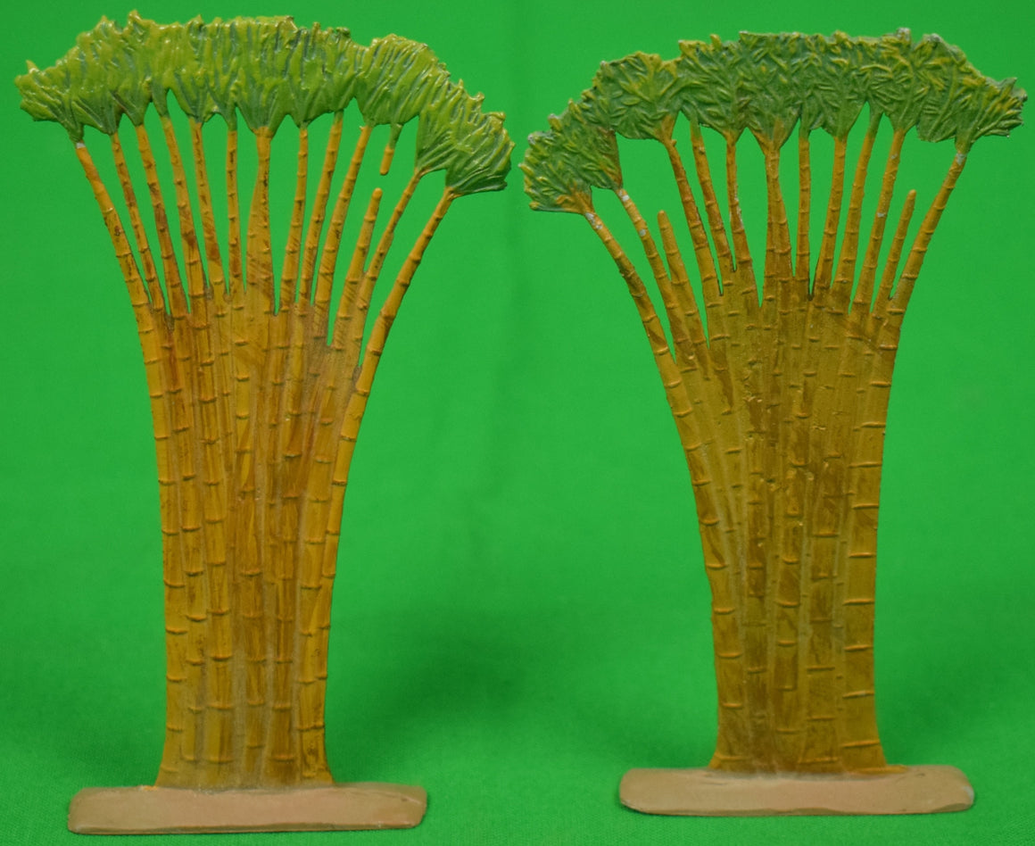 Pair of Hand-Painted Bamboo Trees
