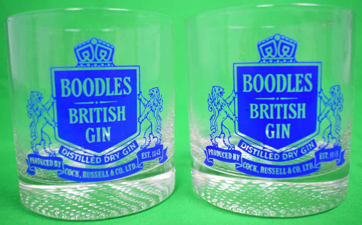 Pair of Boodles British Gin Old-Fashioned Glasses