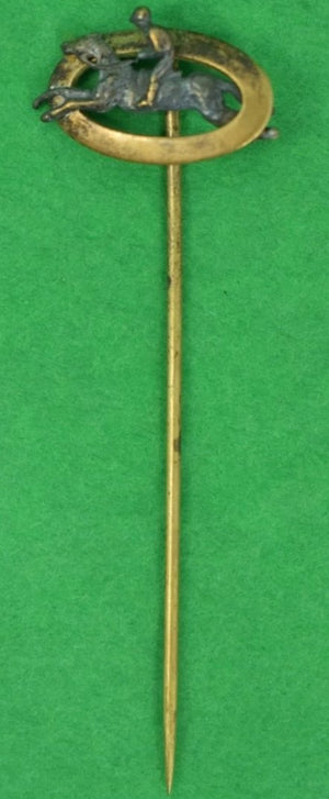Gold Jockey Oval Stick Pin