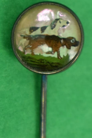 Enamel Sporting Dogs Sterling Stick Pin