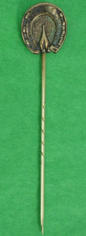 Gold Horse Shoe Stick Pin