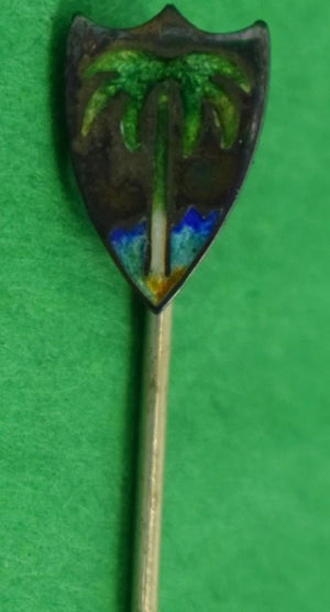 Emerald Palm Tree Sterling Stick Pin