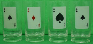 Red & Black 'A'ces Playing Card Glasses