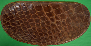 Rare c1960s Gucci Croc Leather Shoulder Tote w Strap