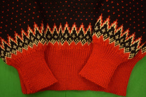 Abercrombie & Fitch Black & Red Danish 'Ski' c1960s Sweater Sz: 42R