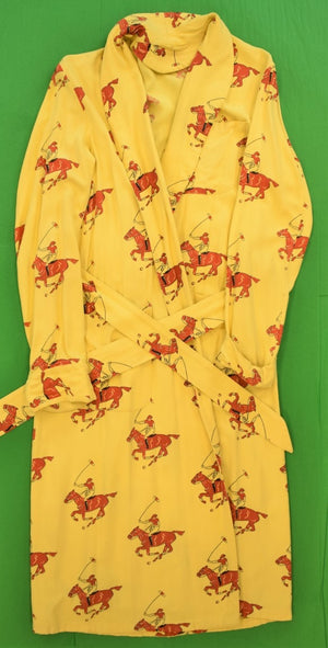 Gent's Yellow Cotton Robe w Red Polo Players Sz: M (Sold!)