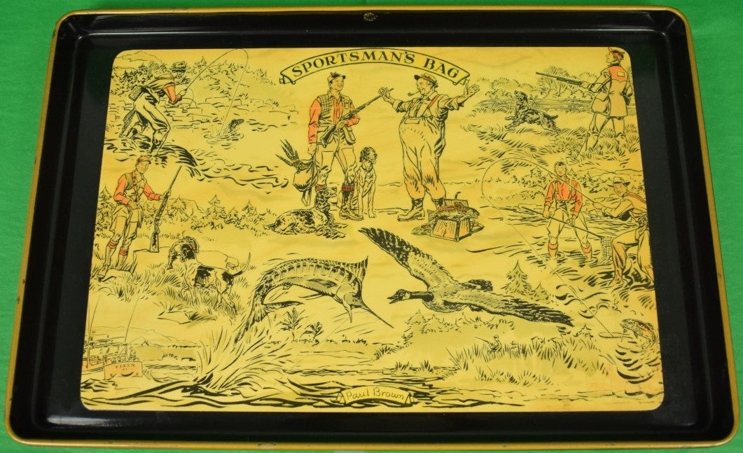 A Sportsman's Bag c1950s Tray by Paul Desmond Brown