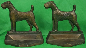 Pair of 'PAL' c1929 Bronze Terrier Bookends