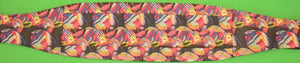 Pleated Cummerbund & Matching Pre Tied Bowtie w Tropical Fish Print