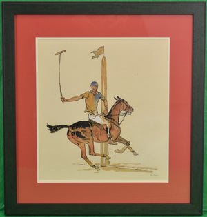 'Winston FC Guest Shelburne Polo' c1935 Watercolor by Paul Desmond Brown (SOLD)