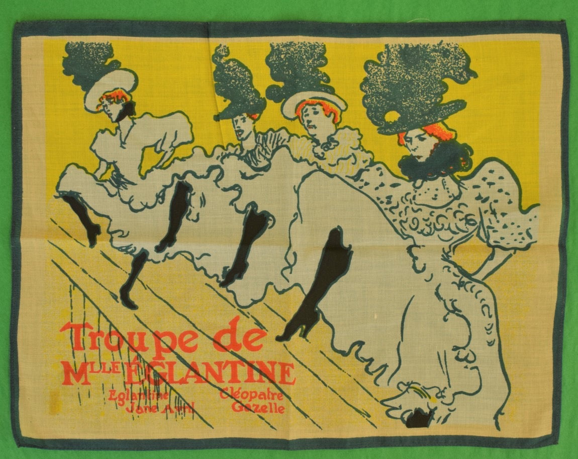Toulouse-Lautrec Linen Pocket Sq