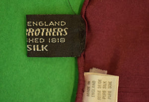 Brooks Brothers Burgundy English Silk Pocket Sq