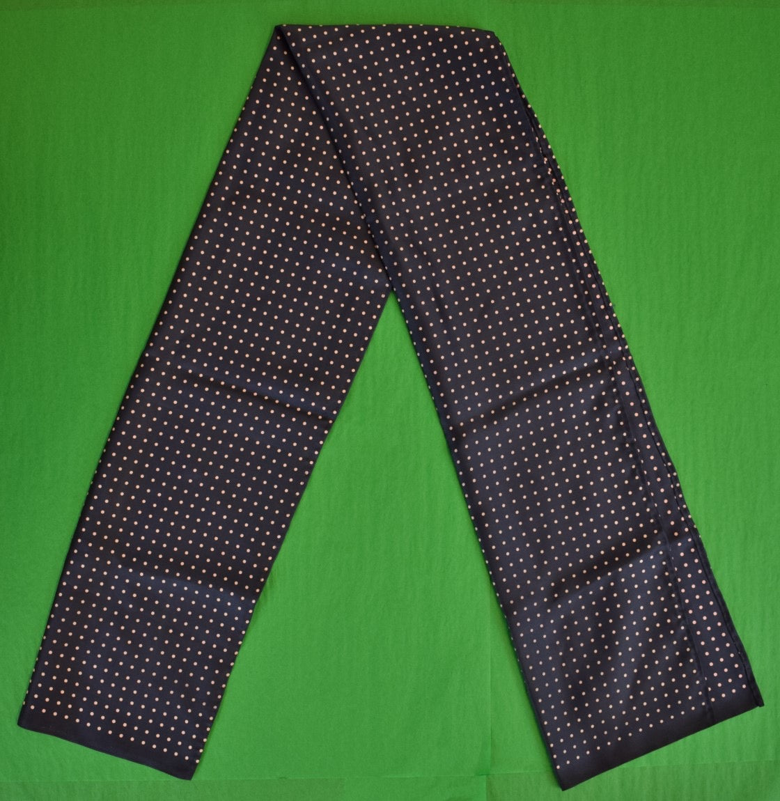 Gents' Navy & Pink Pin Dot Silk Scarf