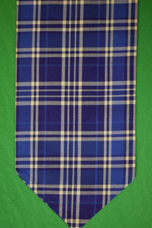 Gent's Outdoor Traders Royal Blue & White Glen Plaid Cotton Ascot