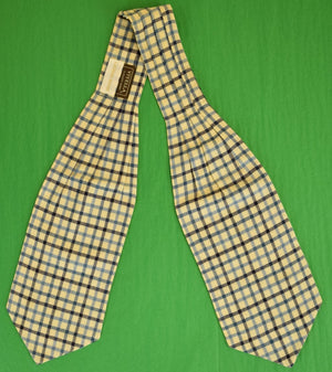 Blue & White Plaid Viyella Tattersall by Elliot Gant for Latham House Flannel Cravat (SOLD)