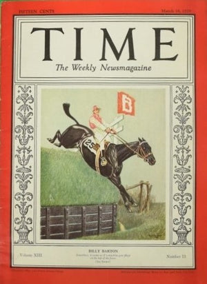 Paul Desmond Brown 'Billy Barton' Aintree Grand National 1929 for Time Magazine