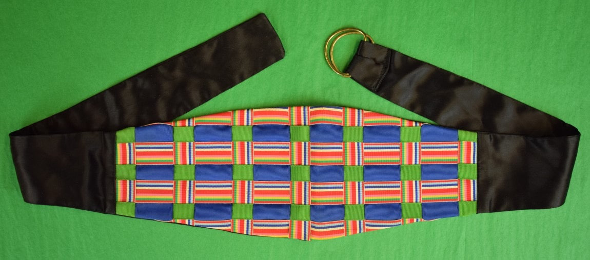 Men's Multicolor Plaid Grosgrain Cummerbund
