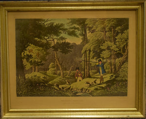 Pheasant Shooting Hand-Engraved Litho Black Park, near Uxbridge Drawn by R Havell