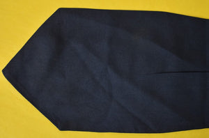Paul Stuart Navy Silk Pleated Cravat