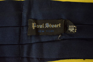Paul Stuart Navy Silk Pleated Ascot
