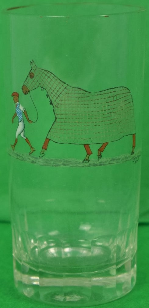 Cyril Gorainoff Tattersall Racehorse High-Ball Glass