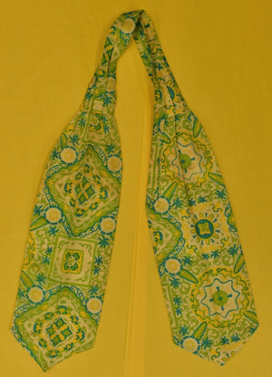 Robert Talbott for Stinchfield Palm Beach Tropical Lime Silk Ascot