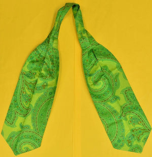 Gent's Lime Green Maus & Hoffman Palm Beach Paisley Silk Cravat