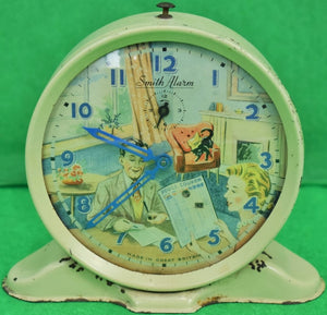 "'Smith Alarm ""Football Pool Checker"" c1950s Clock Made in Great Britain' (Sold!)"