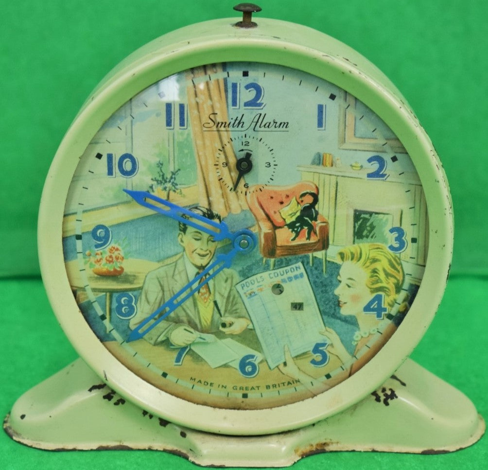 "'Smith Alarm ""Football Pool Checker"" c1950s Clock Made in Great Britain' (SOLD)"