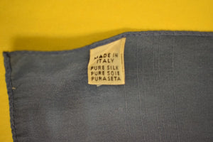 Slate Blue Silk Pocket Square Made in Italy