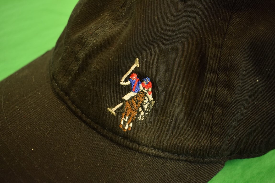 U.S. Polo Assn. Black Cotton Twill Cap
