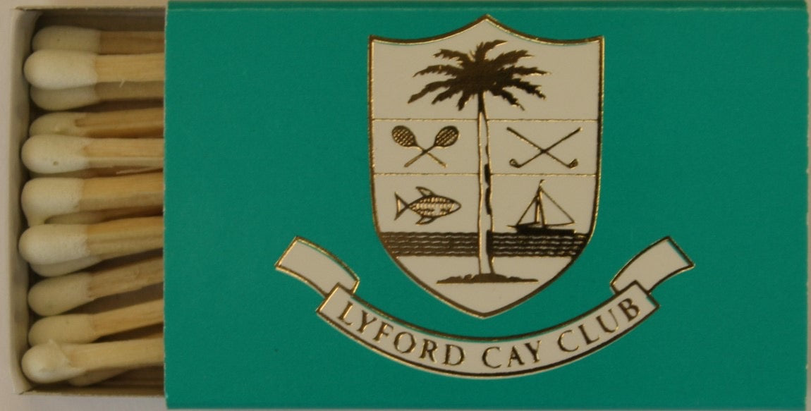 Lyford Cay Club Nassau Bahamas Matchbook