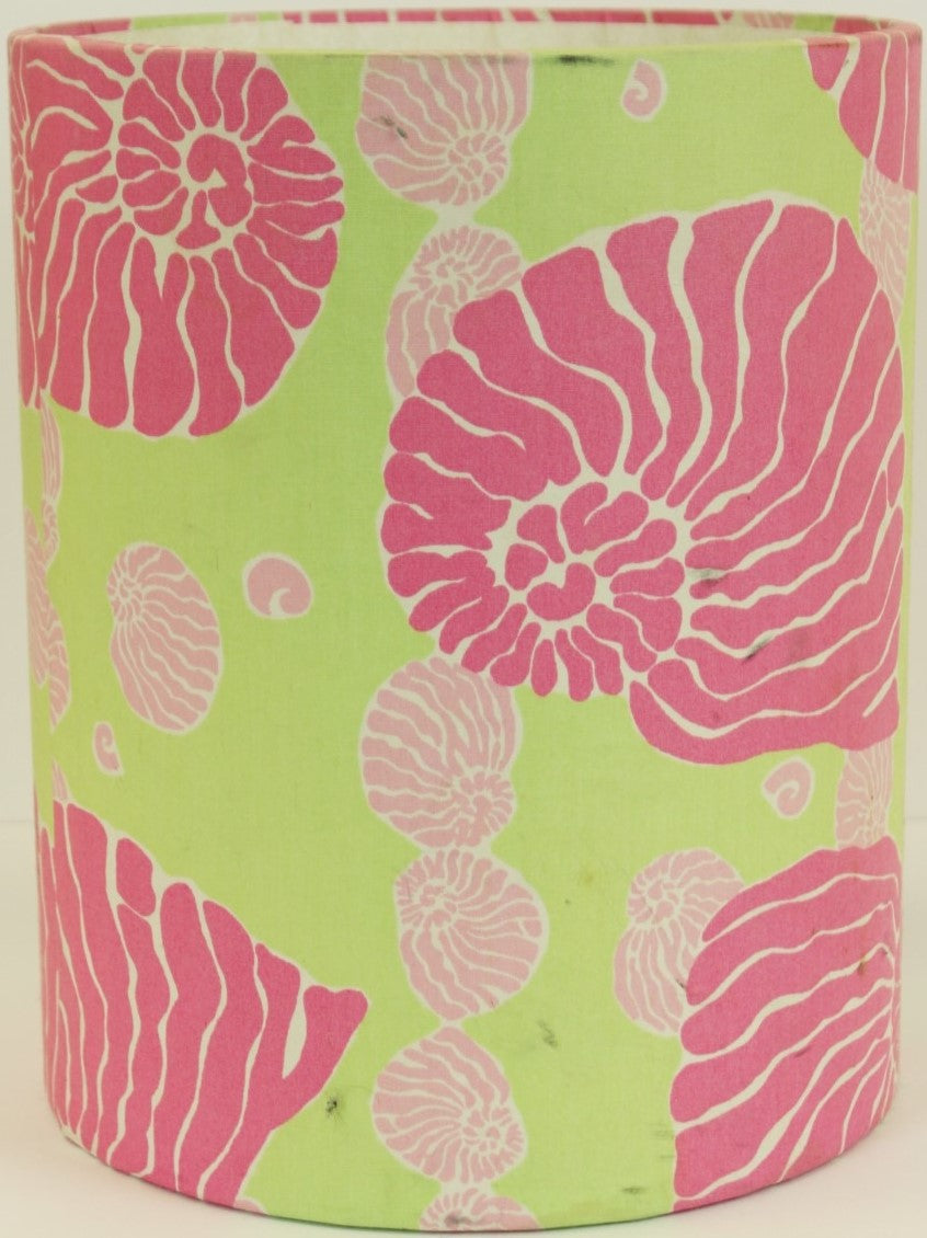 Lilly Pulitzer Pink & Lime Conch Shell Wastebasket