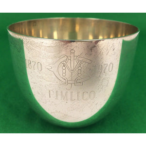 Pimlico Stieff Sterling Jefferson Cup 1870-1970