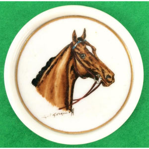 'Set of 7 Abercrombie & Fitch Porcelain Horse-Head Coasters' by Cyril Gorainoff