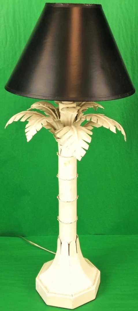 Palm Tree Tin c1950s Lamp