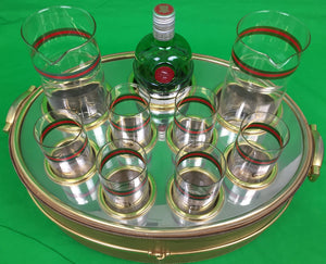 Gucci of Italy c1960s 9pc Barware Serving Set (SOLD)
