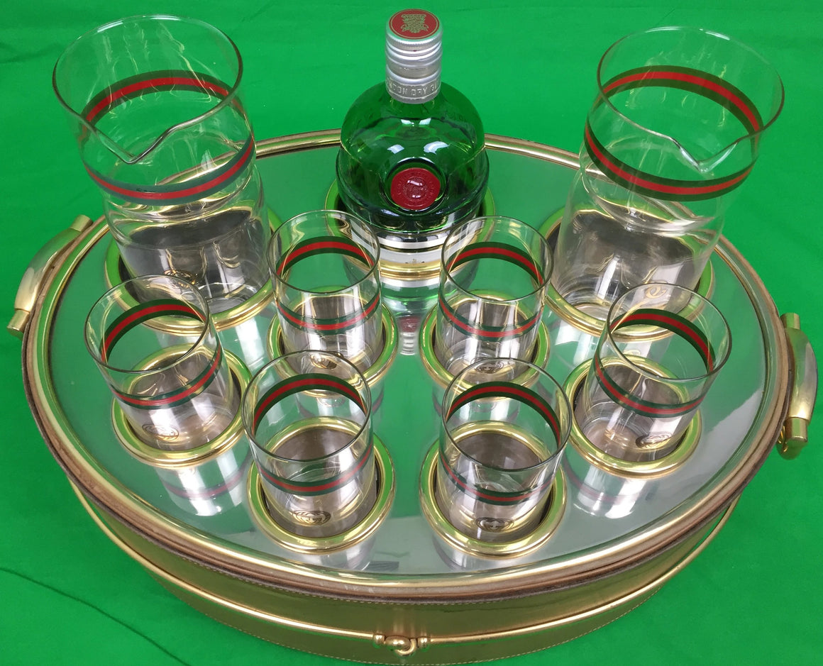 Gucci of Italy c.1960s 9pc Barware Serving Set