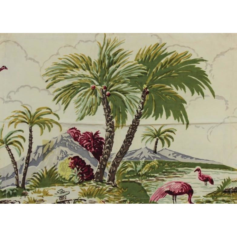 Vintage 'Tropical Beach' Pillow Cover