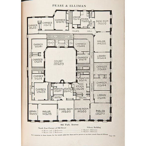 Pease and Elliman's Catalogue of The East Side of New York Apartment Plans